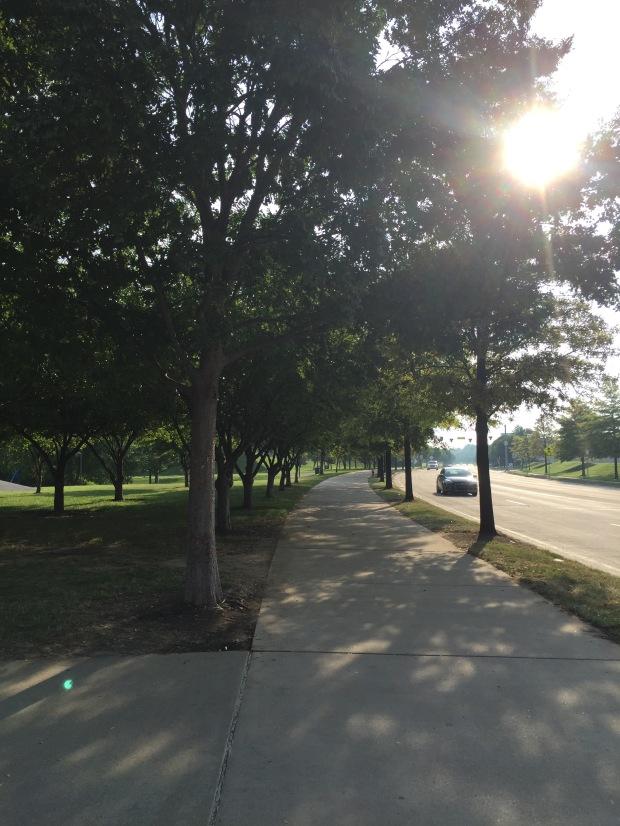 Sidewalk shot